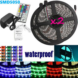Led Strip Lighting 2*5M 32.8 Ft 5050 RGB 300 LEDs Flexible Color Changing Light $29.99
