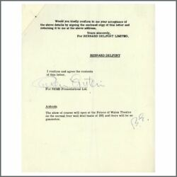 Cilla Black 66 Prince Of Wales Performance Contract Signed By Brian Epstein UK