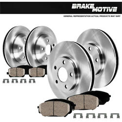 For 2014 2015 2016 2017 2018 2019 Jeep Cherokee Front + Rear Rotors Ceramic Pads