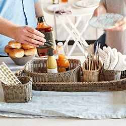 Pampered Chef wicker serving caddy