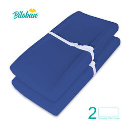 100% Cotton Baby Waterproof Changing Pad Covers Infant Sheets 2 Pack 32quot;x16quot; $17.59