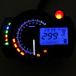 Motorcycle LCD Digital ATV 15000rpm Dual Color Backlight Speedometer Tachometer $55.29