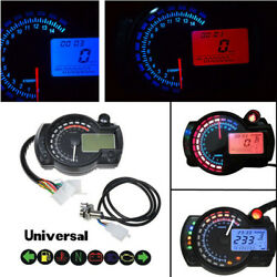 15000rpm Motorcycle  LCD Digital Speedometer Tachometer ATV Dual Color Backlight $55.29