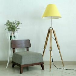 Nautical Teak wood Tripod Floor Lamp Home Decorative Floor shade stand lamp GBP 69.99