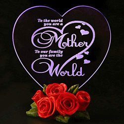 Mothers Day Gifts Birthday Presents for Mom Color Changing LED Cake Topper Decor