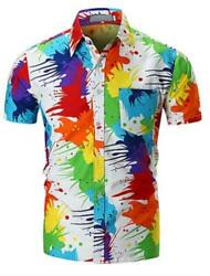 Rainbow Beach Slim Shirt Color Block Summer