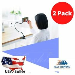 2 New Cell Phone Clip Holder Goose Neck Universal Lazy Bracket Flexible Long Arm $11.99