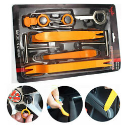 12 PCS Car Auto Door Clip Panel Trim Removal Tool Kits Audio Pry Refit Set Radio