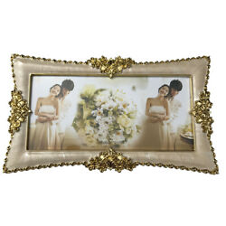 Gold 6quot; x 12quot; Wedding Picture Display Home Decor Frame Family Photo Decor $23.99