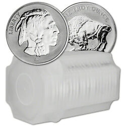 1 oz Silver Round Asahi Reverse Proof Buffalo Design .999 Lot Roll Tube of 20