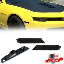 2pcs Smoked Black Lens Front Side Marker Light Housing For 2010-15 Chevy Camaro $19.99