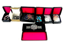 Avon Super Gift Pack Earrings Watch Thumb Ring Necklace Set Silverstone NEW