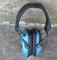 Howard Leight Impact Sport Sound Amplification- Electronic Shooting Earmuff Blue