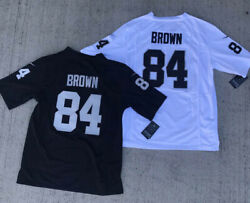 BRAND NEW Antonio Brown #84 Oakland Raiders Men's Stitched Home Black Jersey