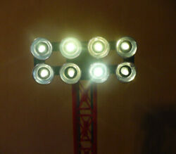 WARM White LED Lamp Replacement kit bulbs for Lionel 8 lamp Floodlight Tower $9.99