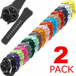 2-Pack Silicone Watch Band Replacement For Samsung Gear S3 Frontier Classic