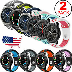 2-Pack Replacement Band Strap Sport For Samsung Gear S3 Frontier Classic Watch