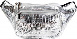 Bags Fanny Pack - Silver Metallic Gator Rave New Free Shipping