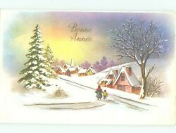 foreign Pre-1980 SNOW-COVERED CHRISTMAS TREES OUTDOORS AC6843