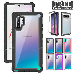 For Samsung Galaxy Note 10 Plus 360° Clear Shockproof Hybrid Rugged Case Cover