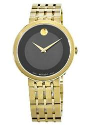 New Movado Esperanza Museum Dial Yellow Gold Plated Men#x27;s Watch 0607059 $415.87