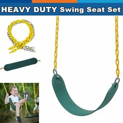 Heavy Duty Swing Seat Set Kit Accessories For Adult Kids Playground w2 Chains