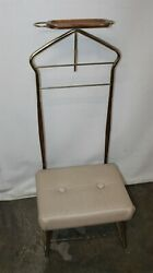 Vintage Mid Century Modern Pearl Wick Gentleman's Butler Stand Local Pickup Only