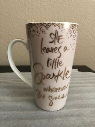 Pier 1 Exclusive She Leaves A Little Sparkle Wherever She Goes Tall Mug Pink