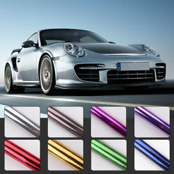 30x100cm Chrome Mirror Vinyl Film Wrapping Car Motorcycle Styling Sticker Decal