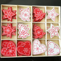 10pcs New Year Wooden Tag Christmas Gift Tree Hanging Home Decoration Ornaments