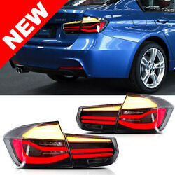 12-15 BMW F30 Sequential LCI Style LED Taillights - ClearBlackRed