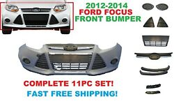 2012 2013 2014  FORD FOCUS FRONT BUMPER COVER COMPLETE WITH ALL GRILLS AND COVER