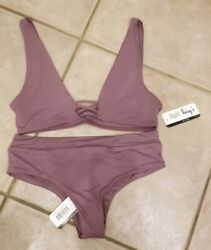 Dippin Daisy Mauve Purple Two Piece Swimsuits Size Small NWT MSRP: $116 $80.99