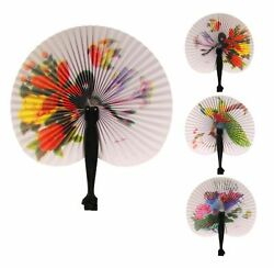 Chinese Paper Folding Hand Fan One Fan with Random Color and Design $5.99