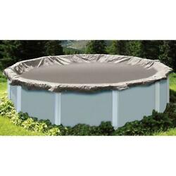 Winter Pool Cover 16 ft. Round Silver Above Ground Super Deluxe Heavy-Duty