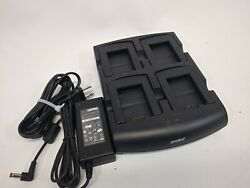 Symbol Motorola SACX000-4000CR 4-Slot Battery Charger with adapter MC3200