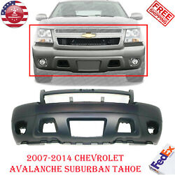 Front Bumper Primed Fits 2007-2014 Chevy  Avalanche Suburban Tahoe W/Fog Holes $199.00