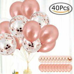 40x Latex Confetti Balloons Rose Gold 12quot; Wedding Birthday Party Christmas Decor $8.81