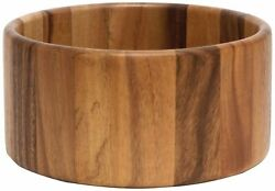 Lipper International 1145 Acacia Straight-Side Serving Bowl for Fruits or Sal...
