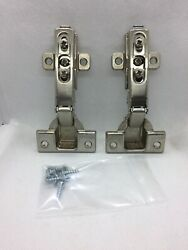 Two Grass 1006-30 snap on hinges with mounting plates and screws