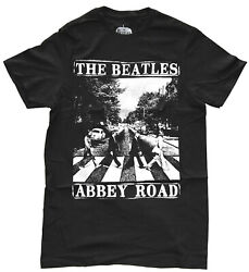 The Beatles Abbey Road Black Men#x27;s Graphic T Shirt New $14.99
