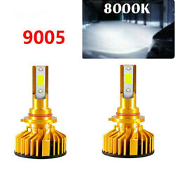 2pcs Car 9005 Canbus LED Lamp Headlight Kit White 80W 12000LM Beam Bulbs 8000K