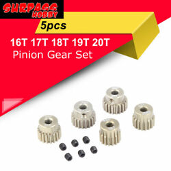 SURPASS HOBBY 48DP 16T 17T 18T 19T 20T Pinion Gear Set for 1 10 3.175MM RC Motor $9.29