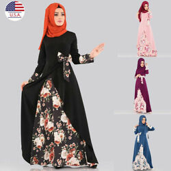 Muslim Dress Islamic Long Tops Dresses Ramadan Blouse Dubai Abaya Dress