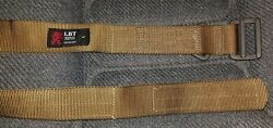 London Bridge Trading Coyote Tactical Riggers Belt Size Large Red Lion $59.99