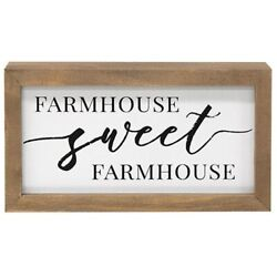 Farmhouse Sweet Farmhouse Country Primitive Home Rustic Box Sign Picture NEW $12.99