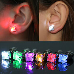 LED Light UP Square Earrings Stud Jewelry for Christmas Halloween Party Gift US