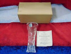 NIB LENOX CRYSTAL STAR 6quot; Vase Czech Republic with Certificate of Authenticity** $12.95