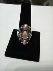 Carolyn Pollack Pink Mother-of-pearl Can Heavy Sterling Silver Ring Size 9...