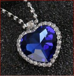 Top High Quality Artisan Crystal Heart Of OceanPendant and Necklaces for Gift